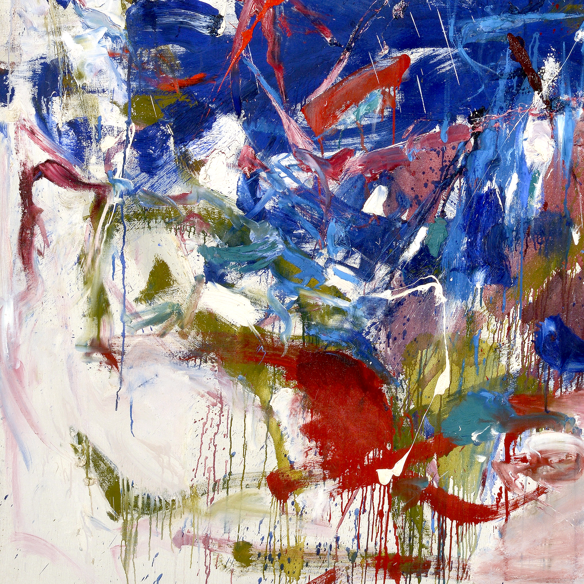 Image credit: Joan Mitchell Rock Bottom, 1960-1961 (detail) Oil on canvas The Blanton Museum of Art, The University of Texas at Austin Gift of Mari and James A. Michener, 1991