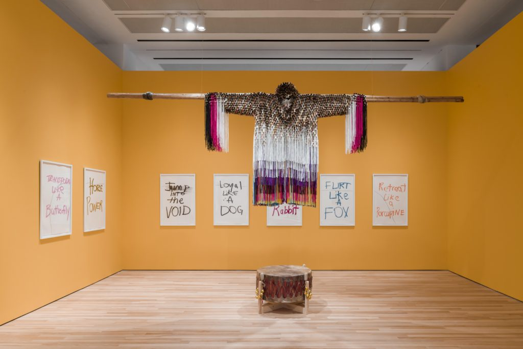 Exhibition view of Jeffrey Gibson: This Is the Day