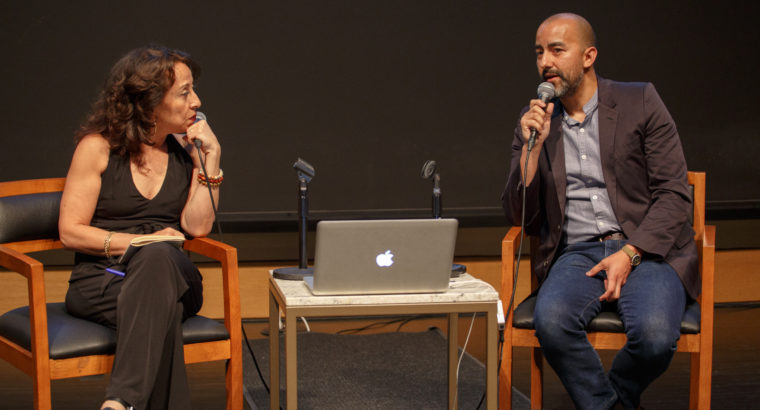 """Vincent Valdez & Maria Hinojosa speak about his painting, """"The City,"""" onstage"""